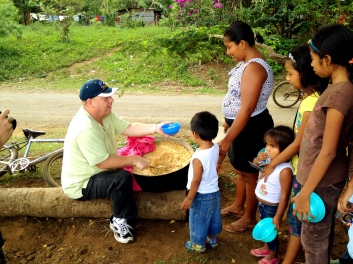 bob feeding children